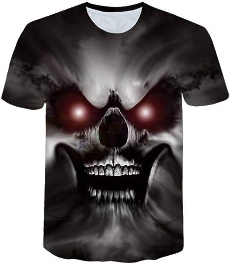 RCFRGV 3D Camiseta 3D cráneo Camisetas Hombres Venta Moda Hombres ...