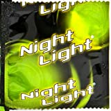 """NIGHT LIGHT BRAND CONDOMS """"GLOW IN THE DARK WHILE YOU GROW IN THE DARK"""" - Practice Safe Sex - Brought To You By Oakland Gardens (01 - 1 Condom)"""