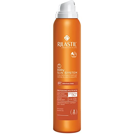 9 opinioni per Rilastil Sun System Ppt 50+ Baby Spray Trasparente 200ml