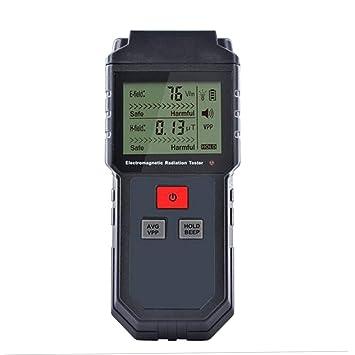 Uzinb ET825 batería de la radiación eléctrico de detección del Campo magnético del probador del Detector electromagnético Pantalla LCD: Amazon.es: ...