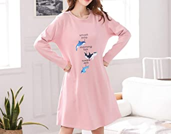 67a7ff4ec8 Amazon.com  Vopmocld Big Girls  Adorable Dolphin Nightdress Cute Casual  Long Sleeve Nightgowns  Clothing