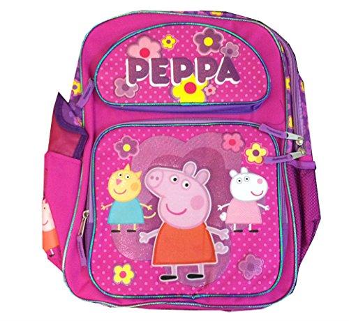 """Children Peppa Pig Backpacks Kids Cartoon School Bag Large - 16"""""""