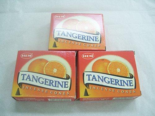 Hem Tangerine Incense Cones, 3 Packs of 10 Cones = 30 Cones