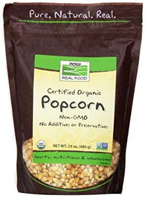 Now Foods Organic Popcorn, 24 Ounce (Pack of 2)