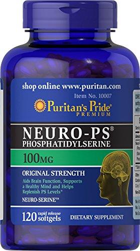 Puritans Pride Neuro-ps (phosphatidylserine) 100 Mg Softgels, 120 Count