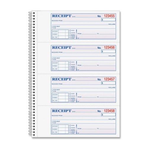 Wholesale - Wirebound Money/Rent Receipt