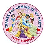 design buddies Personalised Disney Princess 50mm 2' Party Stickers thank you labels,thank you for coming to my party labels (30)
