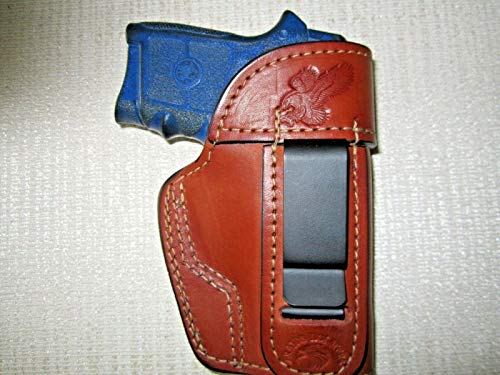 IWB Brown Leather Holster ambidextrous,S&W Body Guard 380,Diamondback db 380&db9