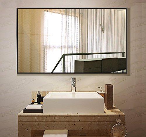 Large rectangle wall mounted mirror vanity - Large horizontal bathroom mirrors ...