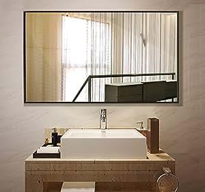 Amazon.com: Large Rectangular Bathroom Mirror, Wall ...