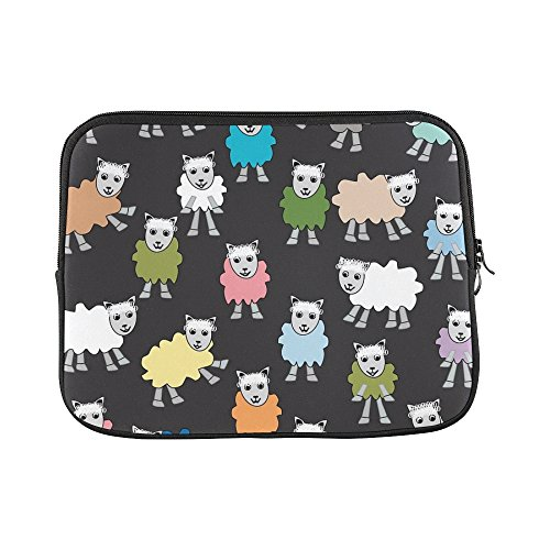 Cartoon Colorful Black Pink Green Blue Sleeve Soft Laptop Case Bag Pouch Skin For Macbook Air 11