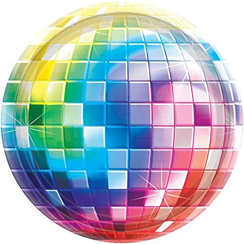 "Amscan 541222 Disco Fever Plates Party Supplies, 7"", Multicolor"