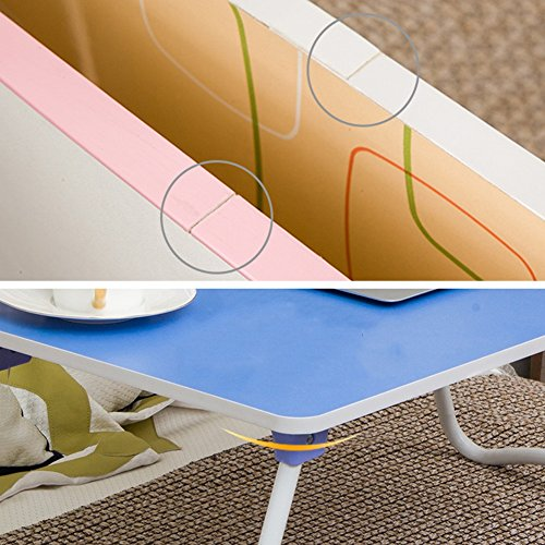 PENGFEI Foldable Laptop Stand for Desk Portable Bed Table Hospital Breakfast Tray College Students Dorm Room Learn Read, 4 Colors (Color : B, Size : 58x34x26CM) by PENGFEI-xiaozhuozi (Image #3)