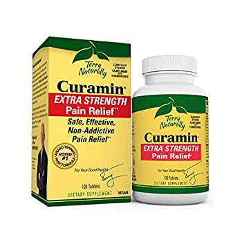 Image of Terry Naturally Curamin Extra Strength (2 Pack) - 120 Vegan Tablets - Non-Addictive Pain Relief Supplement with Curcumin, Boswellia & DLPA - Non-GMO, Gluten-Free - 80 Total Servings Health and Household