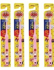 日亚:LION 狮王 面包超人 儿童牙刷4支装 400日元(约23元)
