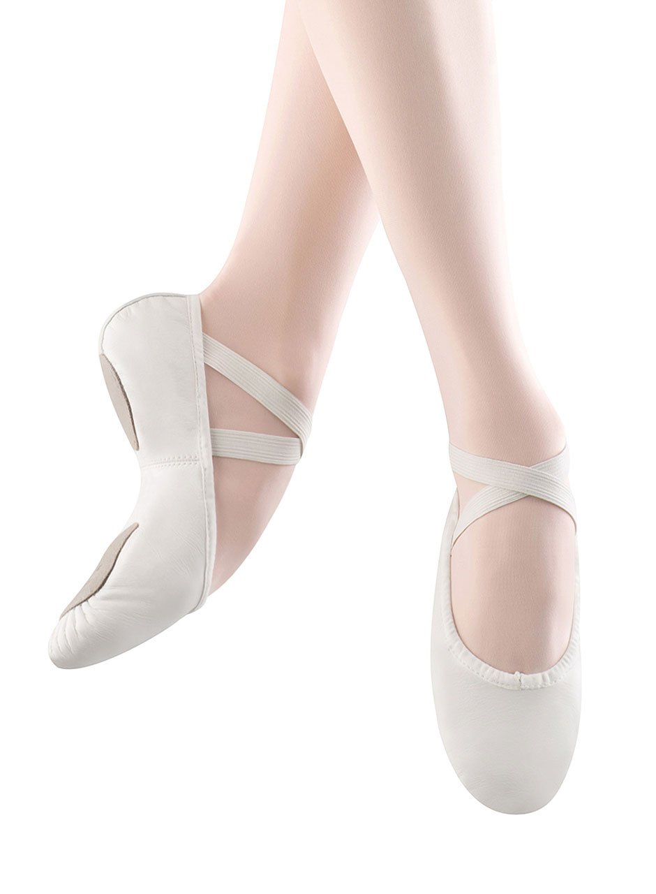 Bloch Dance Women's Prolite II Leather Ballet Slipper, White, 5 C US by Bloch