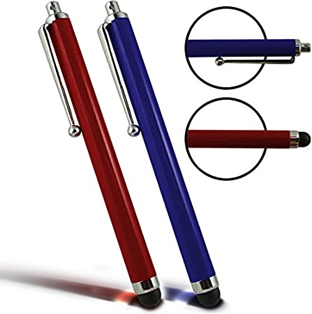 Digi Pig Pair of Red and Blue Capacitive Stylus Touch Screen Pens for the  Fire HD 10