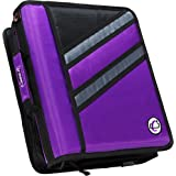 Case-it Z-Binder Two-in-One 1.5-Inch D-Ring Zipper Binder, Purple (Z-176-PUR)