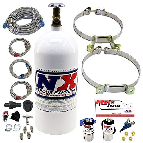 Nitrous Express ML2000 Mainline EFI Single Nozzle Nitrous System with 10 lb Nitrous Bottle ()