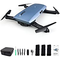Beyondsky JJRC H47 Fast Foldable Pocket FPV Drone 3 Batteries Mini Quadcopter with Camera - Blue