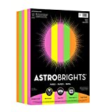 "Astrobrights Color Paper, 8.5"" x 11"", 24 lb/89 gsm, ""Dazzle"" 5-Color Assortment, 750 Sheets (99609)"