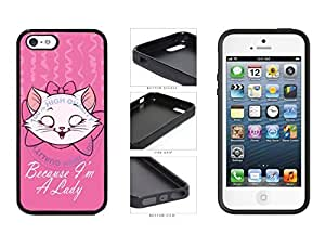 Because I'm A Lady TPU RUBBER SILICONE Phone Case Back Cover iPhone 6 plus comes with Security Tag and MyPhone diy case Cleaning Cloth