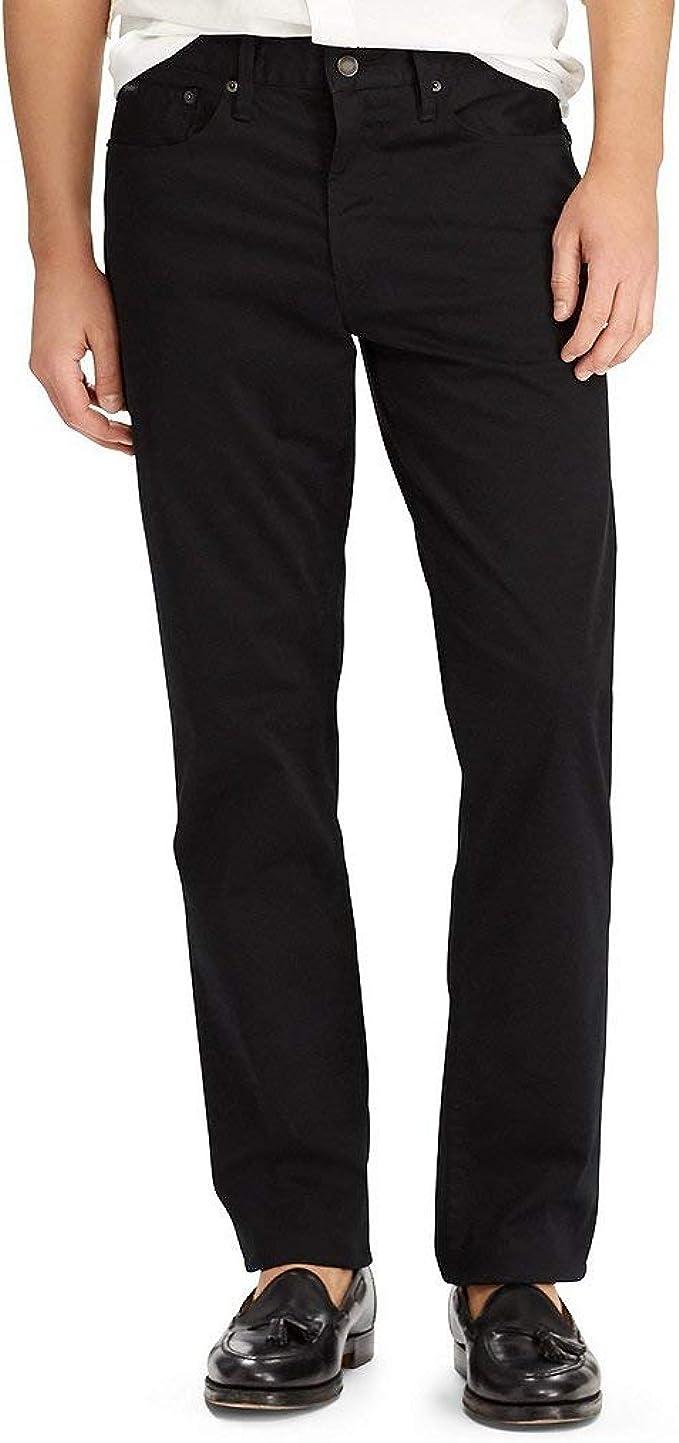 Polo Ralph Lauren Mens Prospect Classic Rise Dark Wash Straight Leg Jeans