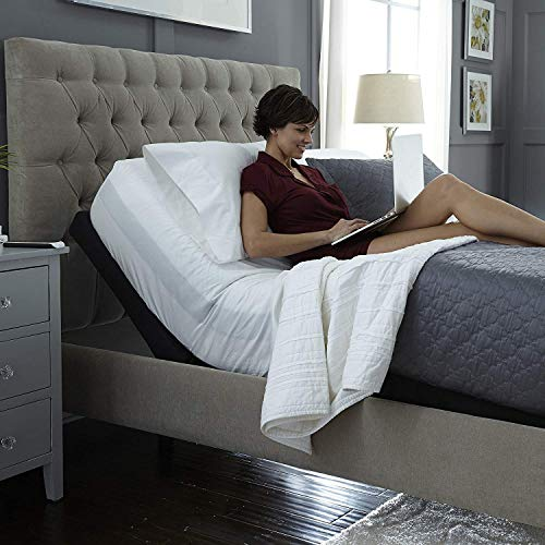 2019 Prodigy Comfort Elite Queen (Individual Lumbar & Pillow-Tilt) + 14 inch Luxury Cool Gel Memory Foam Mattress by Sven & Son Leggett and Platt Adjustable Bed(1 Queen Power Base & 1 Mattress)