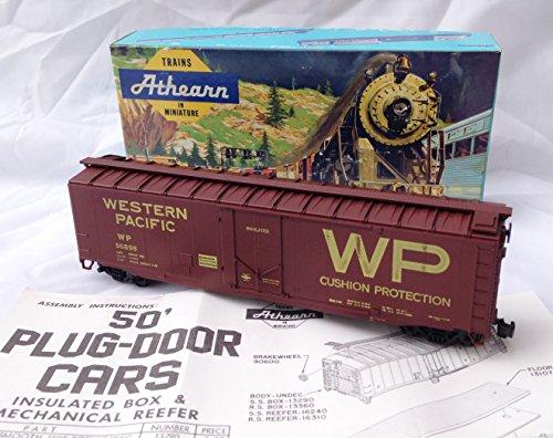 Vintage 1971 Athearn No. 1323 HO Scale Western Pacific Plug-Door Train Car (7