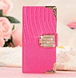 Samsung Galaxy Note 4 Case, [Wild Series] Premium PU Leather Wallet Case for Galaxy Note 4 (Pink, Luxurious Look, Built-in Credit Card/ID Card Slot)