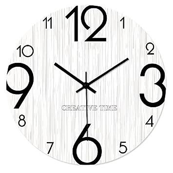 Uberlegen OOFYHOME Wanduhr Modern Style Persönlichkeit Uhr Art Uhr Holz Wanduhr  Stille Nicht Tickende Uhr Wanduhr Für