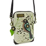 Kyпить Chala Crossbody Cell Phone Purse - Women Canvas Multicolor Handbag with Adjustable Strap (Bird - Safari Sand) на Amazon.com