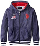 Image of U.S. Polo Assn. Big Boys' French Terry Hoodie, Classic Navy, 14/16