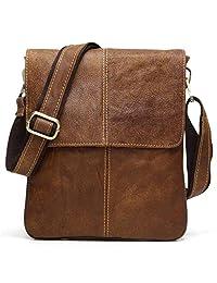 BAIGIO Leather Cross-body Satchel Messenger Bag Casual Shoulder Bag