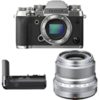 Fujifilm X-T2 Mirrorless Digital Camera (Graphite) w/ XF23mm F2 Silver Lens & Vertical Power Booster