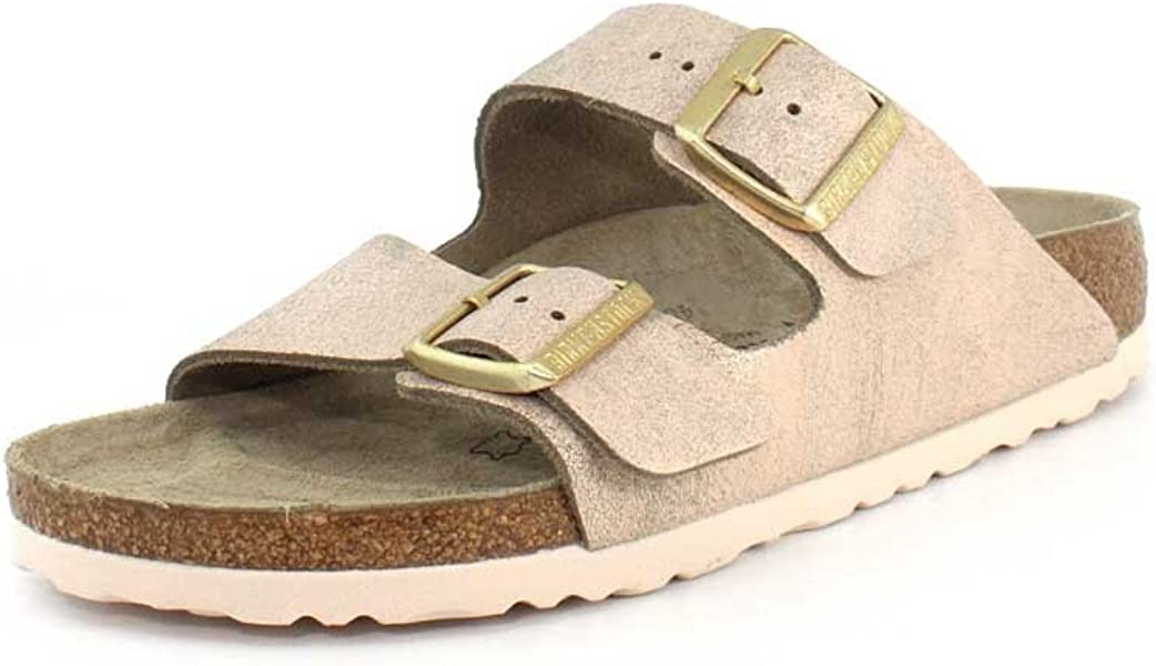 Amazon Birkenstock Womens Arizona Sandal Washed Metallic Rose
