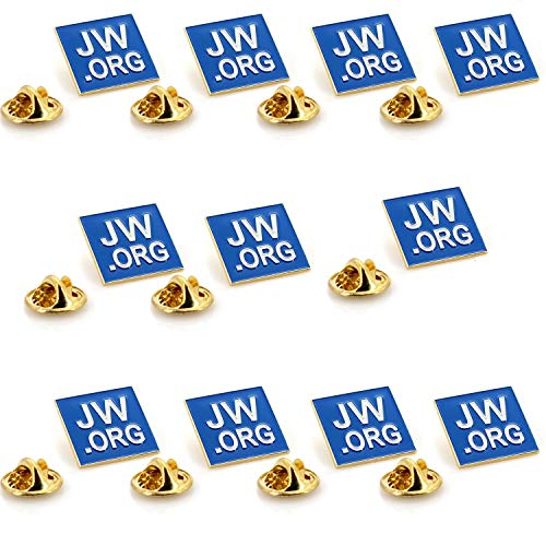 JW.ORG Square Gold Lapel Pin Jehovah Witness - 1