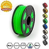 3D Printer Filament PLA Plus Green,PLA Plus Filament 1.75 mm,Low Odor Dimensional Accuracy +/- 0.02 mm 3D Printing Filament,2.2 LBS (1KG) Spool 3D Printer Filament for 3D Printers & 3D Pens,Green