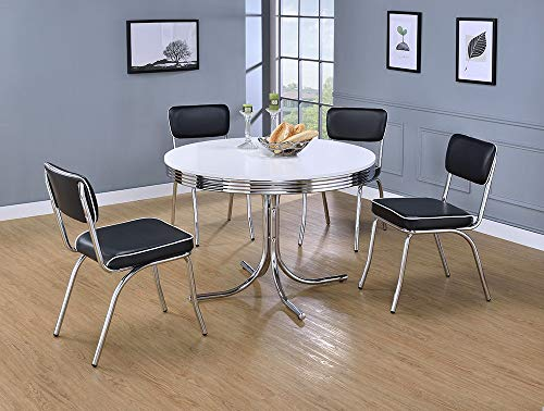 Retro Round Dining Table White and - Formica Table