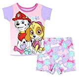 Paw Patrol Marshall And Skye Little Girls 2 Piece Short Pajama Set (5T)