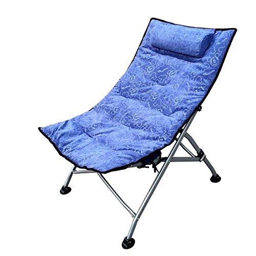 ch-AIR Home Im Freien Einzelnes Mittagessen Break Chairs Lounge Chair N Klappstühle Lounge Chair Sessel Sun Liegen (Farbe   rotB) Blau
