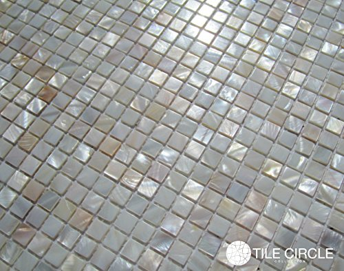 Amazoncom Genuine Mother of Pearl Shell Tile Natural Varied 38