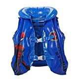 MINHUNG Adjustable Life Vest Swimsuit Kids Swimming Pool Inflatable Float Spider-Man Children Kids Baby Swimming Drifting Paddle Jacket Safety