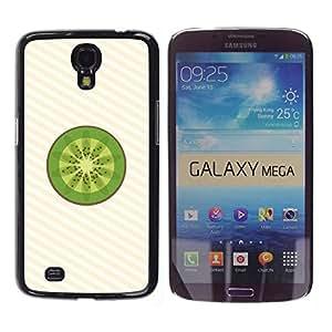 Caucho caso de Shell duro de la cubierta de accesorios de protección BY RAYDREAMMM - Samsung Galaxy Mega 6.3 I9200 SGH-i527 - Kiwi Fruit Fresh Art Green Food Healthy
