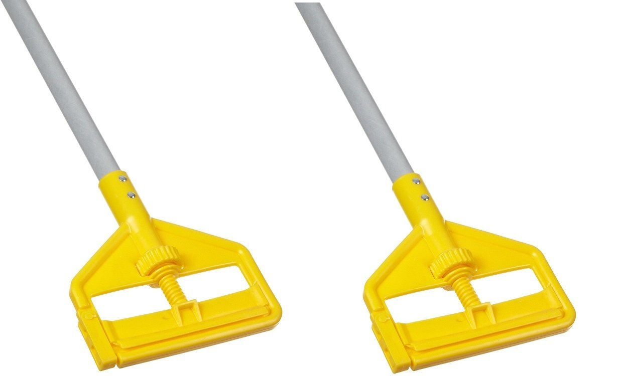 Rubbermaid Commercial Invader Side Gate Wet Mop Handle, 54-Inch, FGH145000000 (2 PACK)