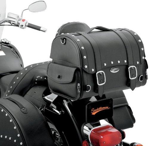 Leather Motorcycle Luggage Rack Bag - 5