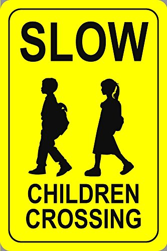 Crossing School Sign - BuildASign Slow Children Crossing Parking Sign 18