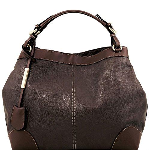 Tuscany Leather Ambrosia - Borsa in pelle morbida con tracolla - TL141516 (Rosso Lipstick) Testa Di Moro Manchester Salida De Gran Venta iJvf6shO
