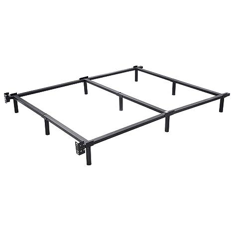 Amazon.com: Giantex Black Folding Heavy Duty Metal Bed Frame Center ...