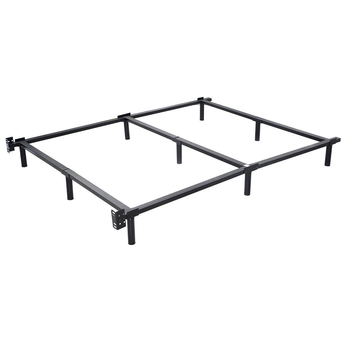 Giantex Black Folding Heavy Duty Metal Bed Frame Center Support Bedroom (Full Size)